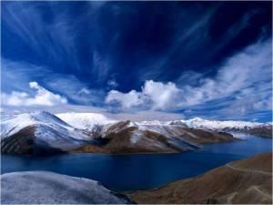 Blue sky-water