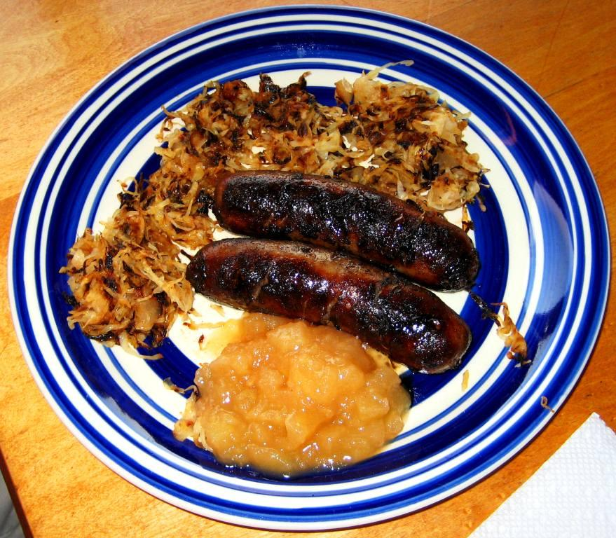 Grilled Bratwurst with Sauerkraut and Applesauce | Check Your Premises