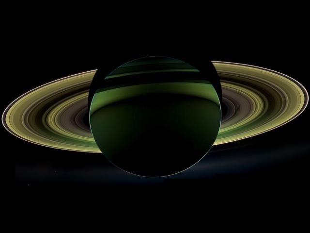 in saturn's shadow by cassini