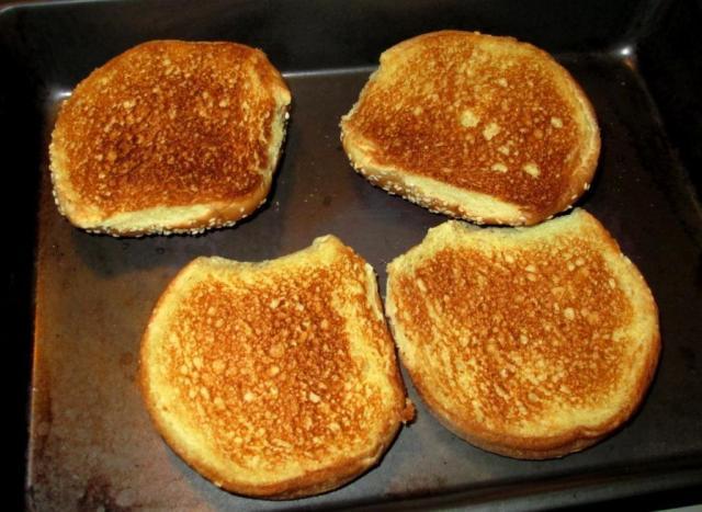 Toast the buns.
