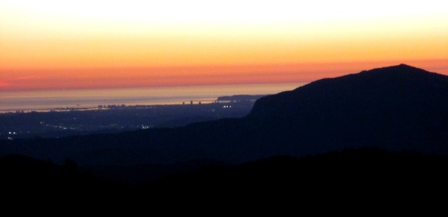 Here we have El Capitan in the foreground, with downtown San Diego and Point Loma to the left...