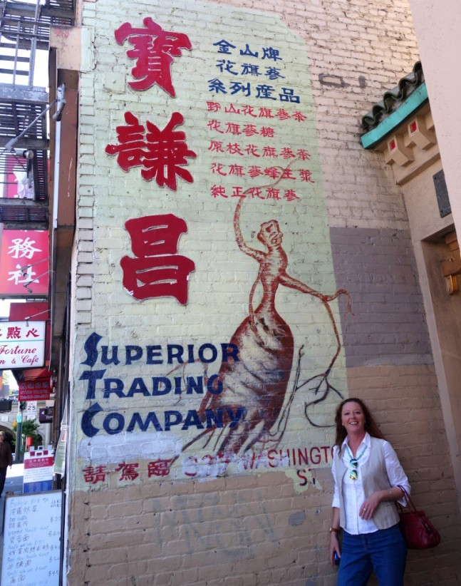 Loved this hand-painted ginseng sign.