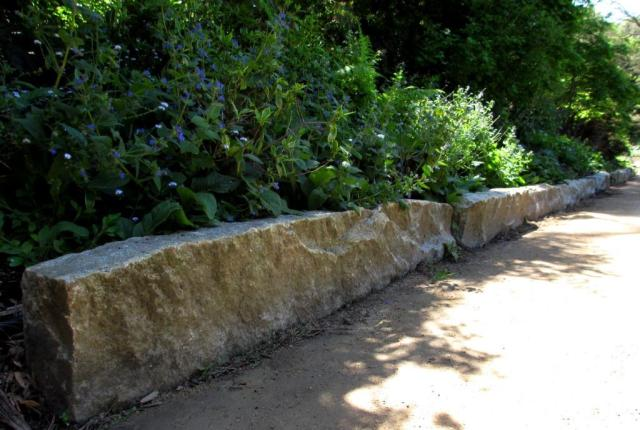 The REALLY big stone slabs were used to line the walkway.
