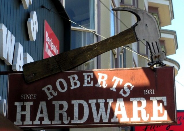 Loved this old hardware store sign.