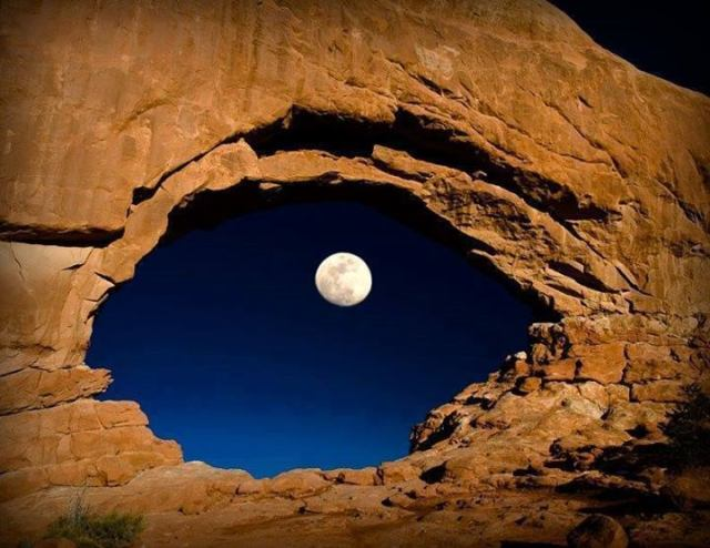north window-moon-arches np-utah