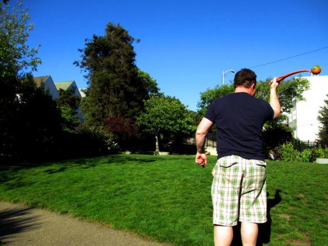 tim throwing ball