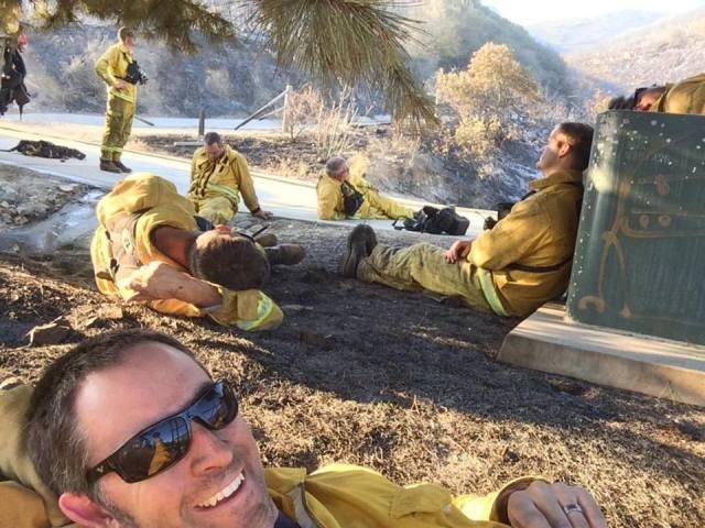 140515 cocos fire selfie-san marcos ca-tim bergen