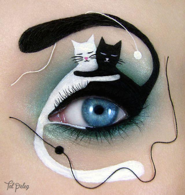 yin yang cats eye art_Tal Peleg