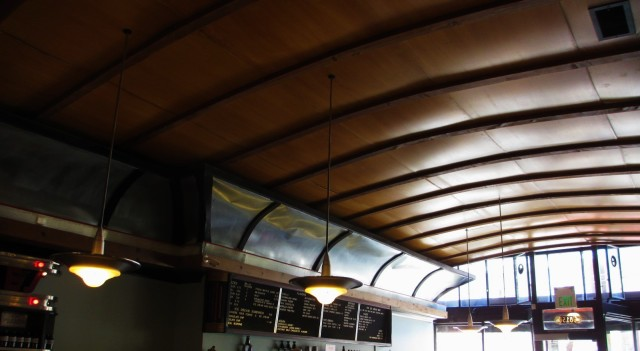 The ceiling.