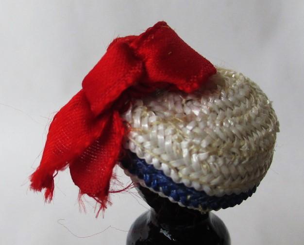 blue white straw sailor cap1
