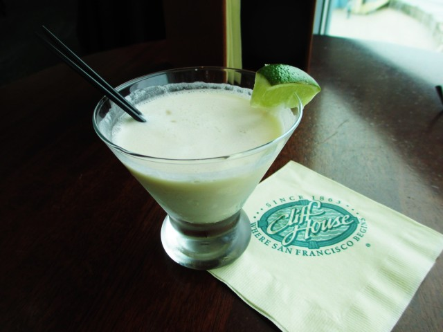 cliff house-key lime cocktail