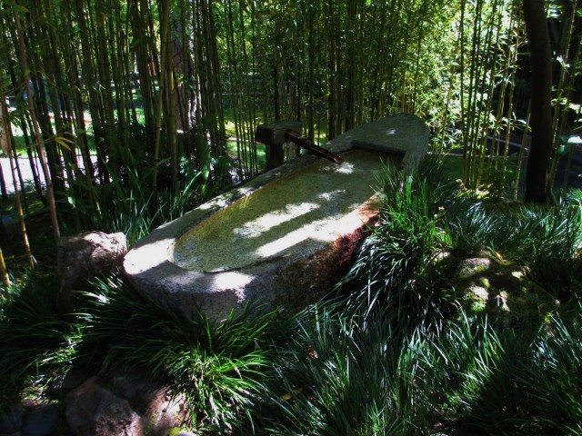 A stone bathtub.
