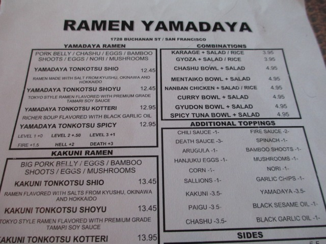 japantown-yamadaya menu