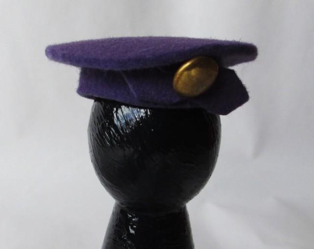 purple felt beret