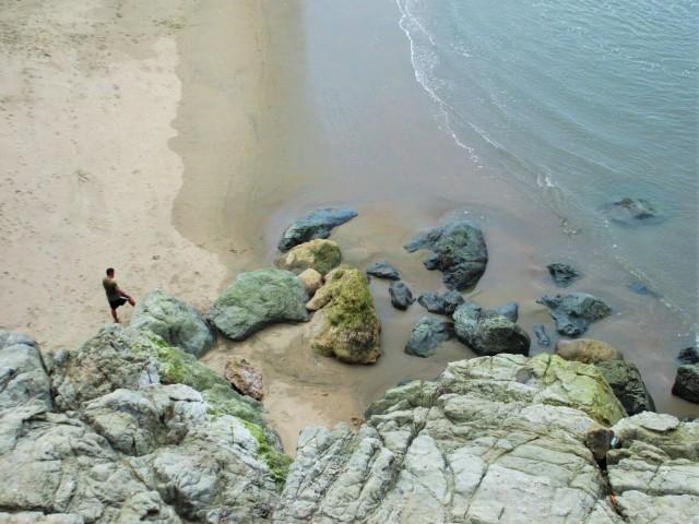 rocks below