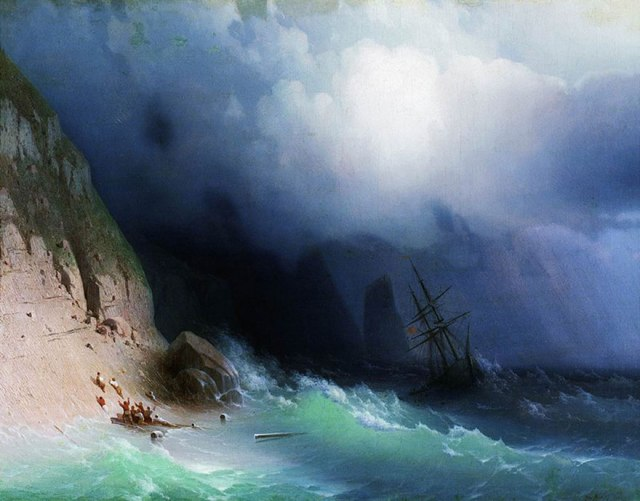translucent waves1_19th Century Armenian Russian artist Ivan Konstantinovich Aivazovsky