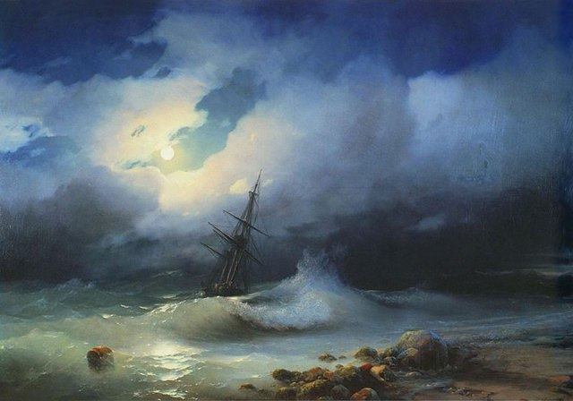 translucent waves3_19th Century Armenian Russian artist Ivan Konstantinovich Aivazovsky
