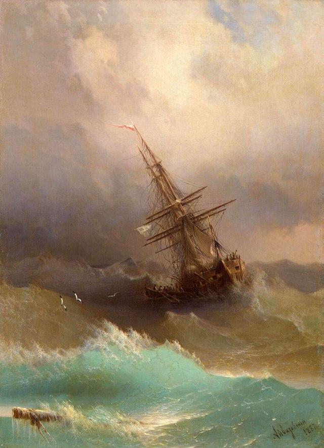 translucent waves4_19th Century Armenian Russian artist Ivan Konstantinovich Aivazovsky