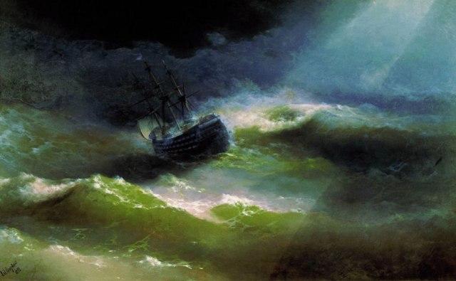 translucent waves5_19th Century Armenian Russian artist Ivan Konstantinovich Aivazovsky