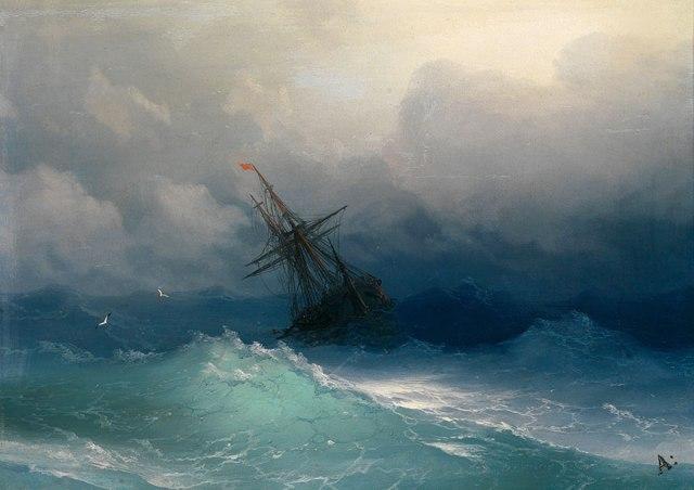 translucent waves_19th Century Armenian Russian artist Ivan Konstantinovich Aivazovsky