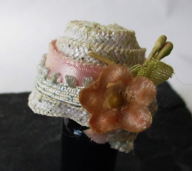 white straw pink ribbon
