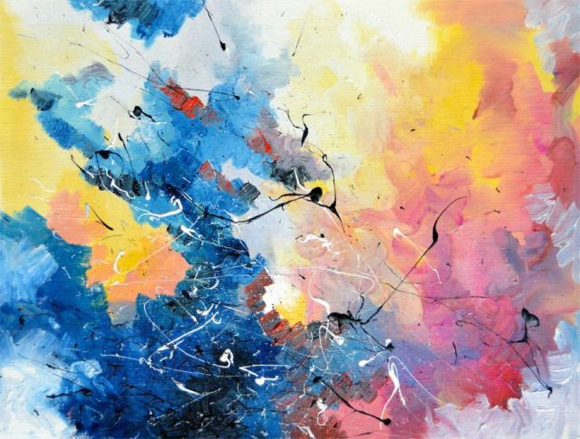 synethesia paintings of music-david bowie-life on mars_Melissa McCracken