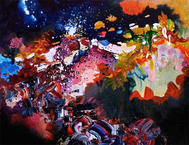synethesia paintings of music-radiohead-karma police_Melissa McCracken