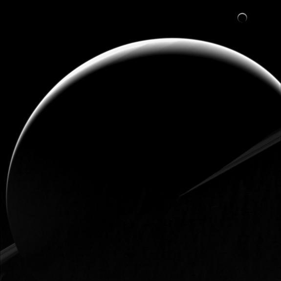 cassini-titan-saturn-crescents-140811