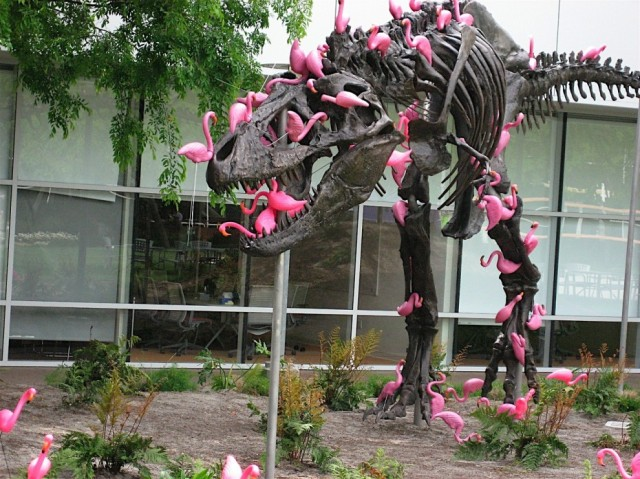 stan-the-t-rex-sculpture-with-flamingoes-google-hq
